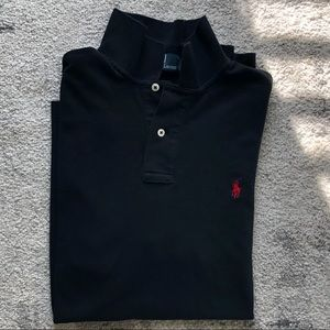Men's Polo Black Collared Polo